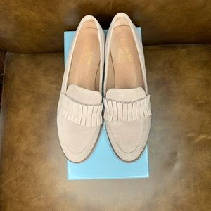 Seychelles Taupe Powerful Suede Loafer 9
